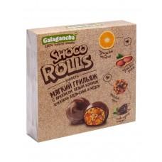 """Конфеты """"Schoco Rolls"""" с арахисом, изюмом, цукатами апельсина и медом, 135г., Биолоджик"""