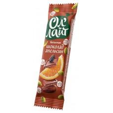 Батончик фруктово-ореховый ОлЛайт шоколадный с апельсином 30г Bionova