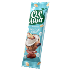 Батончик фруктово-ореховый ОлЛайт шоколадный с кокосом 30г Bionova