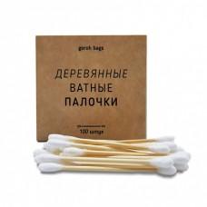 Ватные палочки, деревянные, 100 шт., Goroh Bags