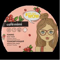 Тонизирующая тканевая маска для лица 22 мл., Cafe Mimi