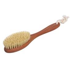 Щетка для сухого массажа маленькая с ручкой из натуральной щетины Кактуса