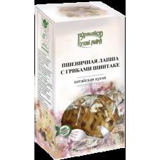 Лапша пшеничная  с грибами Шиитаке, 220г.,Гурмайор