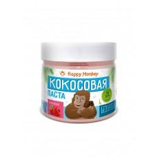 """Кокосовая паста """"С малиной"""" 330г., Happy Monkey"""