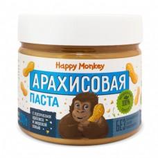 """Арахисовая паста ''с кусочками арахиса и морской солью """"  330г., Happy Monkey"""