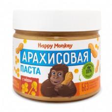 Арахисовая паста с мёдом  330г., Happy Monkey