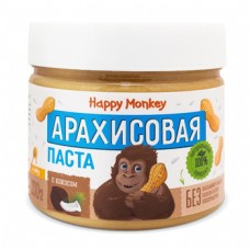 Арахисовая паста с кокосом  330г., Happy Monkey