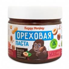 """Ореховая паста """"фундук""""  330г., Happy Monkey"""