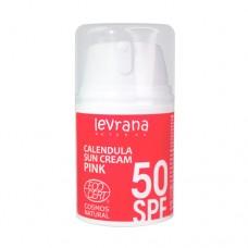 Солнцезащитный крем для лица и тела Календула, SPF50 PINK, 50 мл., ТМ Levrana