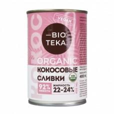 Органические кокосовые сливки 400мл., Bioteka