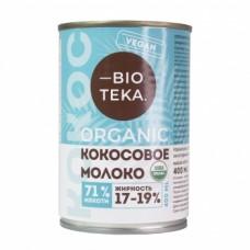 Органическое кокосовое молоко, 400 мл., Bioteka