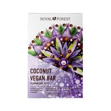 Шоколад кокосовый Горький 70%  Vegan  Coconute Bar ,50гр Royal Forest