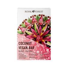 Шоколад кокосовый малина White Vegan Rasberry Coconute Bar ,50гр Royal Forest