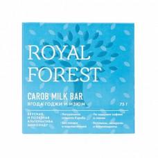 Шоколад из кэроба  ягоды годжи и изюм 75 гр Royal Forest
