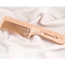 Расчёска с ручкой деревянная,малая СпивакЪ