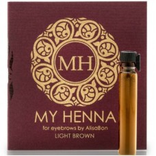 Хна для окрашивания бровей «My Henna» (светло-коричневая) 2 мл, AlisaBon