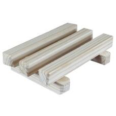 Деревянная мыльница-решетка без логотипа,  Kleona