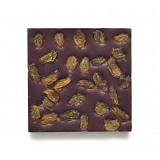 Шоколад молочный, 54% какао, на меду, с белым виноградом  50гр., Мастерская Добро